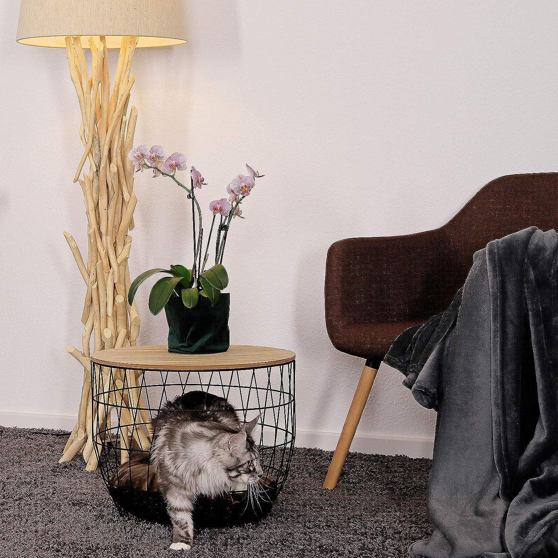 Dibea Tavolino Gatti Tavolino da Salotto Tavolino con Apertura per Gatti Rotondo