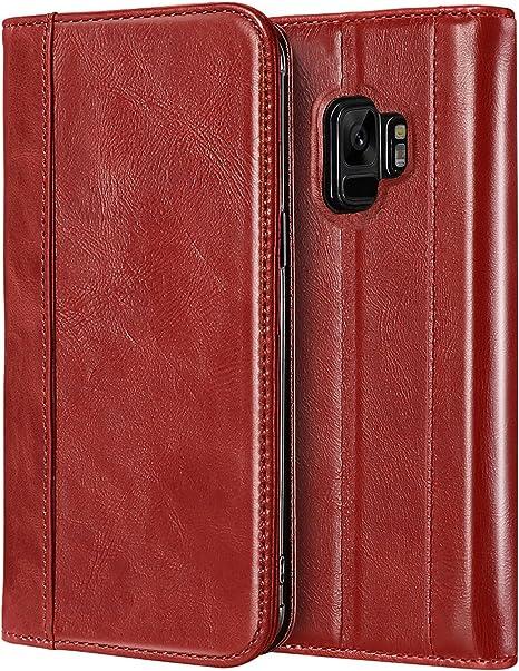 Funda cartera Vintage F. Soporte para iPhone 11 - Rojo