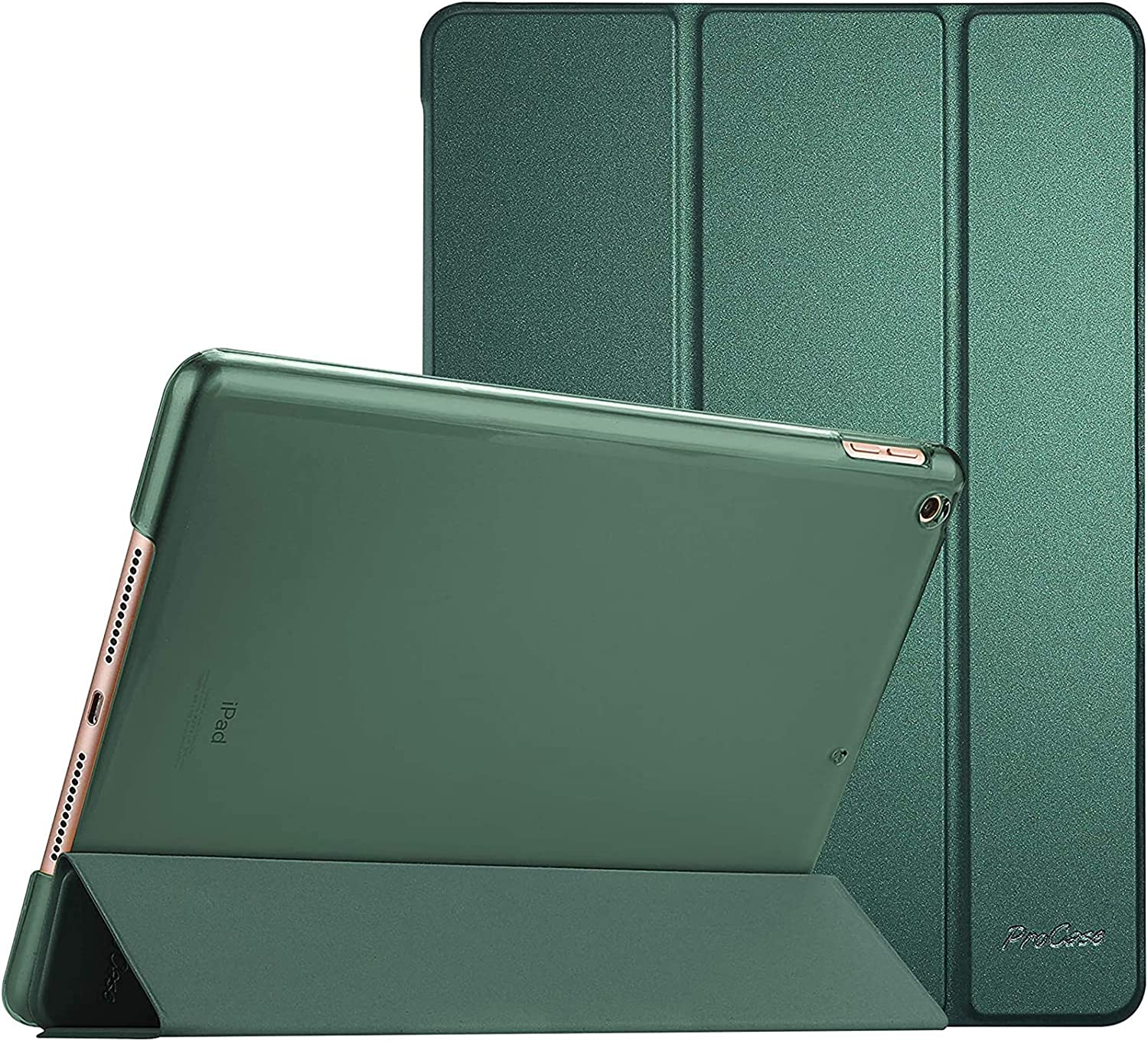 """ProCase iPad 10.2 Case 2020 iPad 8th Generation Case / 2019 iPad 7th Generation Case, Slim Stand Hard Back Shell Protective Smart Cover for 10.2"""" iPad 8 / iPad 7 -Midnight Green"""