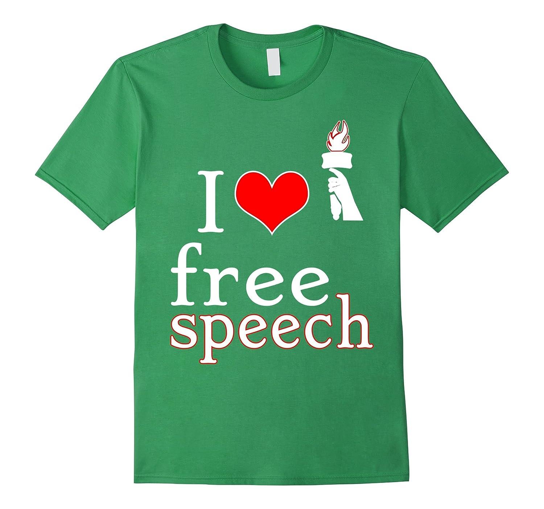 I love free speech - T-Shirt - Design Freedom-BN