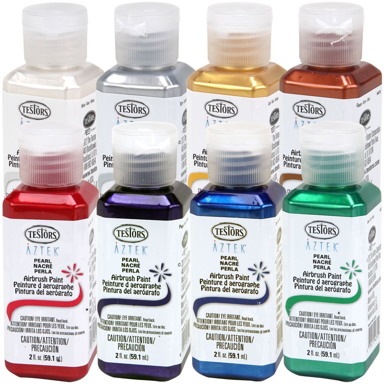 Amazon Testors Aztek Premium Pearl Acrylic Airbrush Paint 8