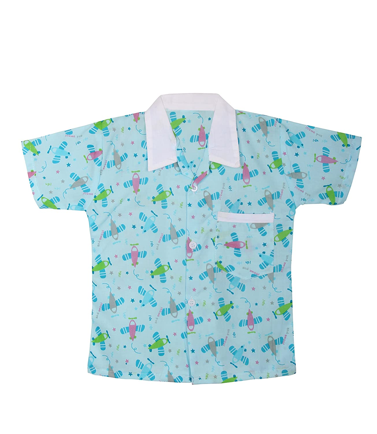 b297252106 BownBee Printed Cotton Nightdress/Nightwear/Nightsuit for Boys/Kids -  Green: Amazon.in: Clothing & Accessories