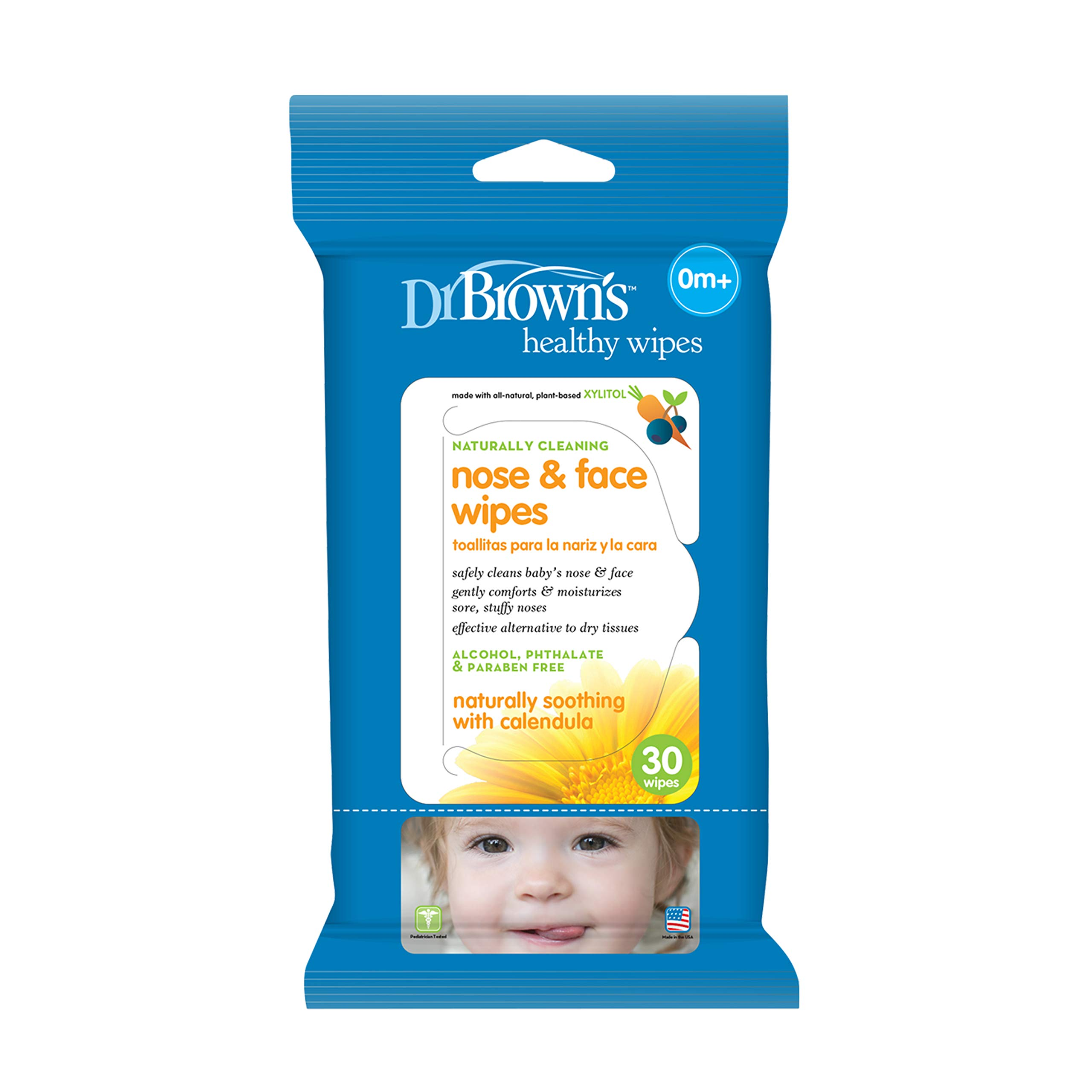 Dr. Browns Nose and Face Wipes, 30 Count