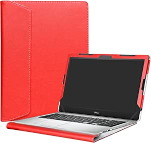 """Alapmk Protective Case Cover for 15.6"""" Dell Inspiron 15 5570 5575 5566 5555 5559 5558 5557 Laptop(Warning:Not fit Model 5578 5568 5579 5584 5593 5594),Red"""