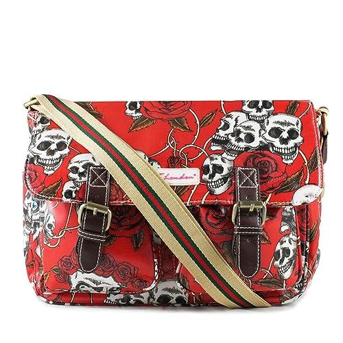 Accessorize-me. - Bolso estilo cartera para mujer rojo/blanco: Amazon.es: Zapatos y complementos