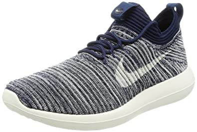 quality design 0ec58 d6a52 NIKE Women's W Roshe Two Flyknit V2, College Navy/SAIL-MTLC ...