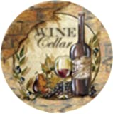 Thirstystone Stoneware Coaster Set, Wine Cellar II