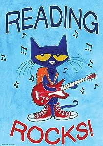 Edupress EP63930 Pete the Cat Reading Rocks Positive Poster