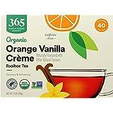 365 by Whole Foods Market, Organic Rooibos Tea - Caffeine Free, Orange Vanilla (40 Tea Bags), 2.8 Ounce