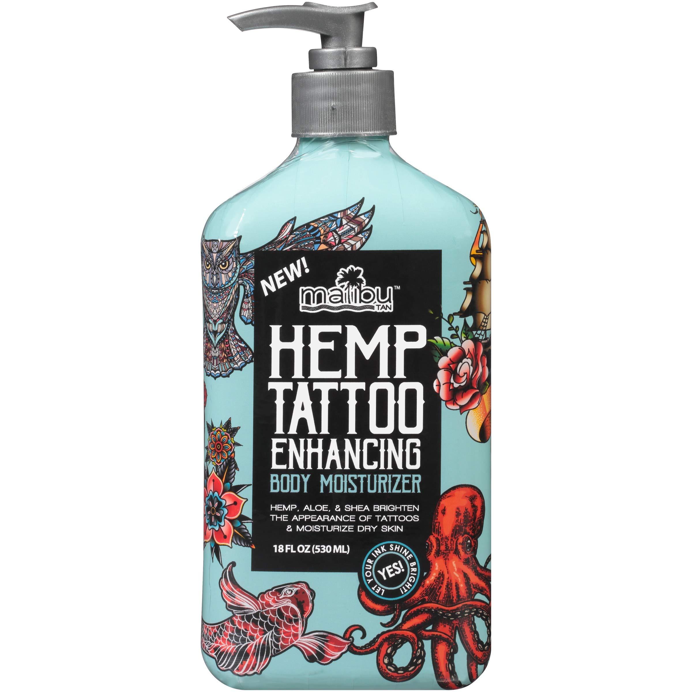 Malibu Tan Hemp Tattoo Enhancing Body Moisturizer, 18 fl. oz. (Pack of 2)