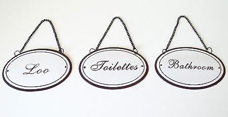 Bathroom Signs   Chic U0026 Shabby Style U0027Bathroomu0027 U0027Loou0027 U0027Toilettesu0027