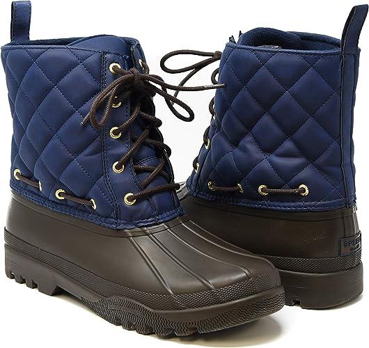 Gosling Duck Boot, Navy/Brown