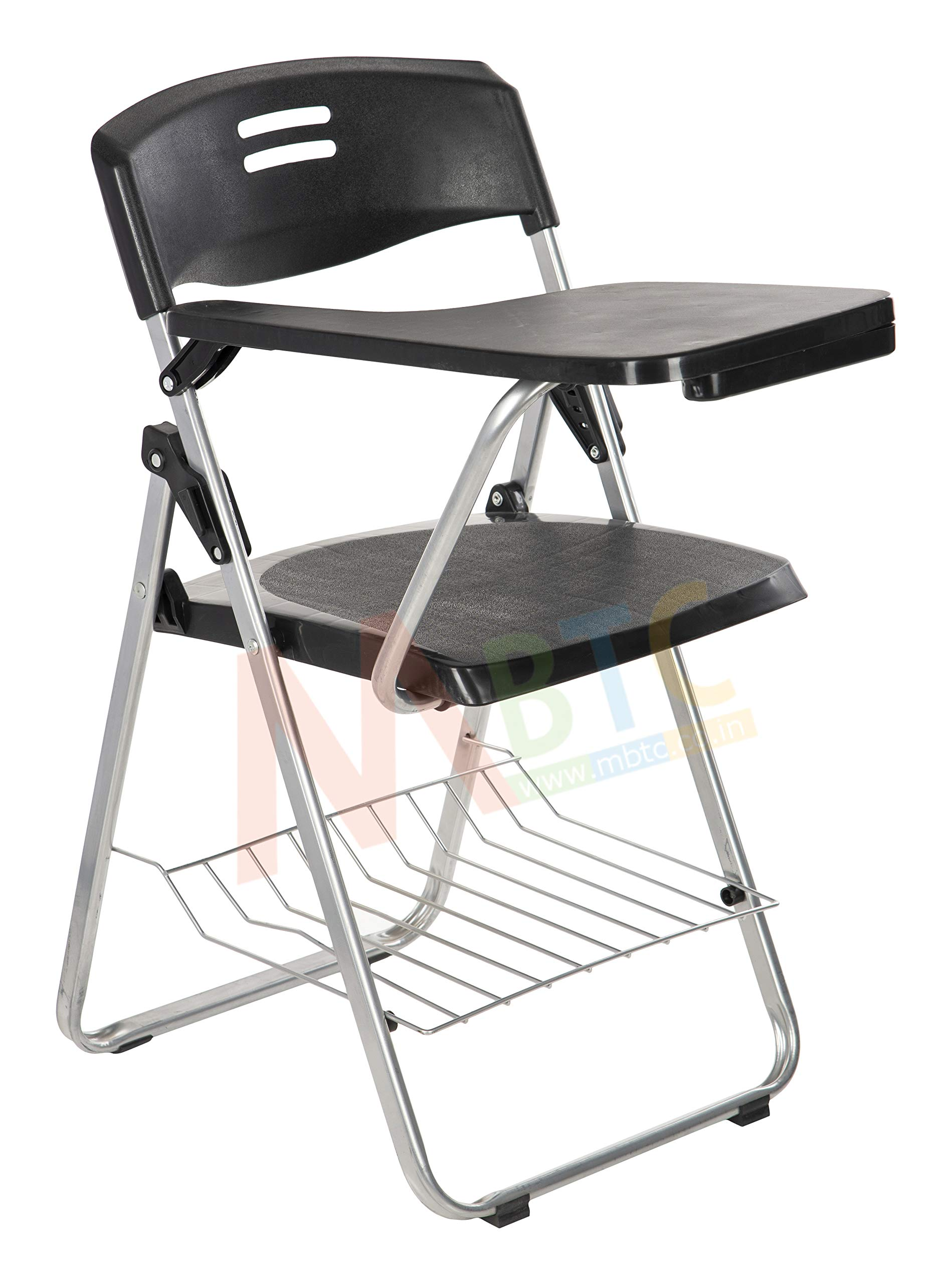 MBTC Erizo Folding Student Writing Pad Chair in Black (Suitable for  Students & Moderate Adult)