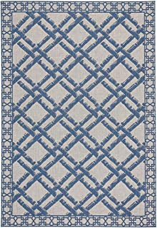 "product image for Capel Elsinore-Bamboo Trellis Blueberry 3' 11"" x 5' 6"" Rectangle Machine Woven Rug"