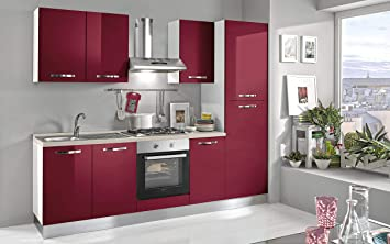 Dafnedesigncom Küche Komplett Dx Cm 255 X 60 X 216h Haube