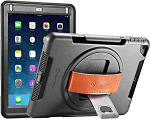 New Trent iPad 9.7 Case 2018 (6th gen)/ 2017 (5th gen), iPad Air 2 / iPad Air, Heavy Duty Gladius Full-Body Rugged Protective Case with Built-in Screen Protector & Dual Layer Design