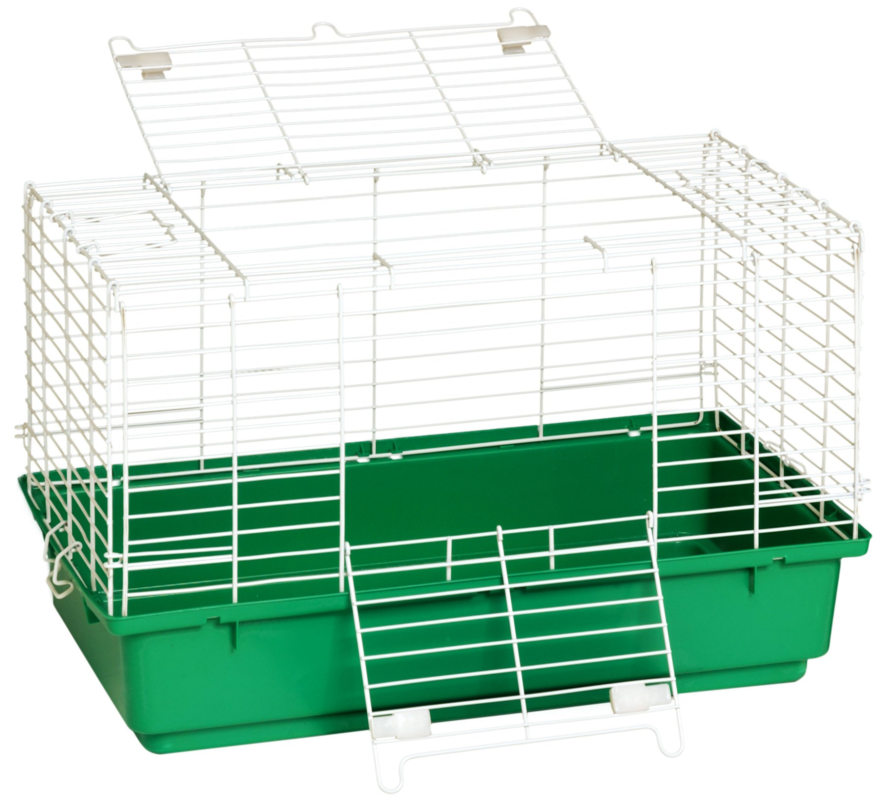 Little Giant Farm & Ag Miller Manufacturing 150934 24-1/2-Inch Rabbit Cage with Plastic Tray