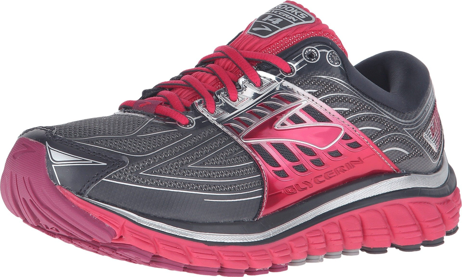 Brooks Women's Glycerin 14 Anthracite/Azalea/Silver Sneaker 11.5 B (M)