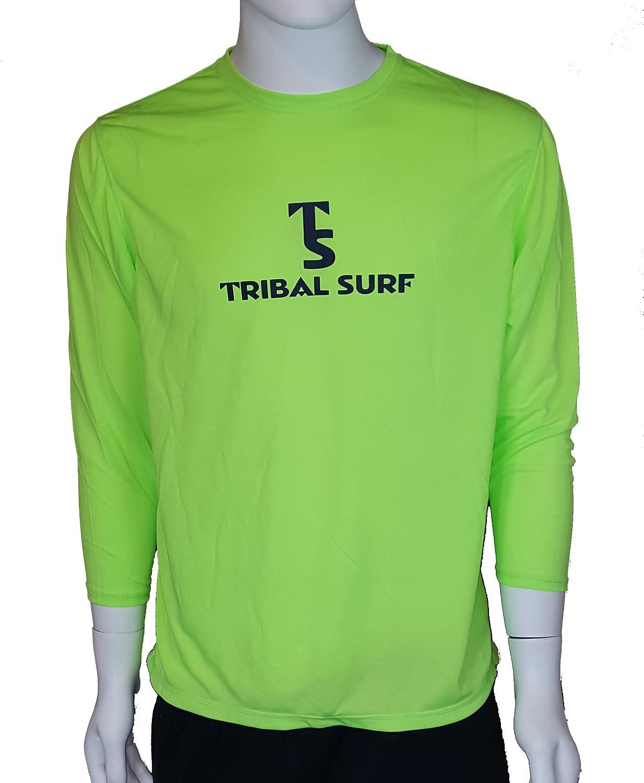 Tribal Surf 3 4 Sleeve Mens Rash Guard Sports Outdoors Men39s Digital Circuit Board Tshirt 2xlarge Light Blue Clothing