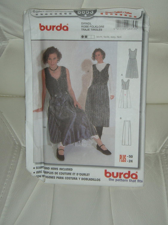 Amazon.com: Burda Sewing Pattern #8853: Sizes 10-24: Arts ...