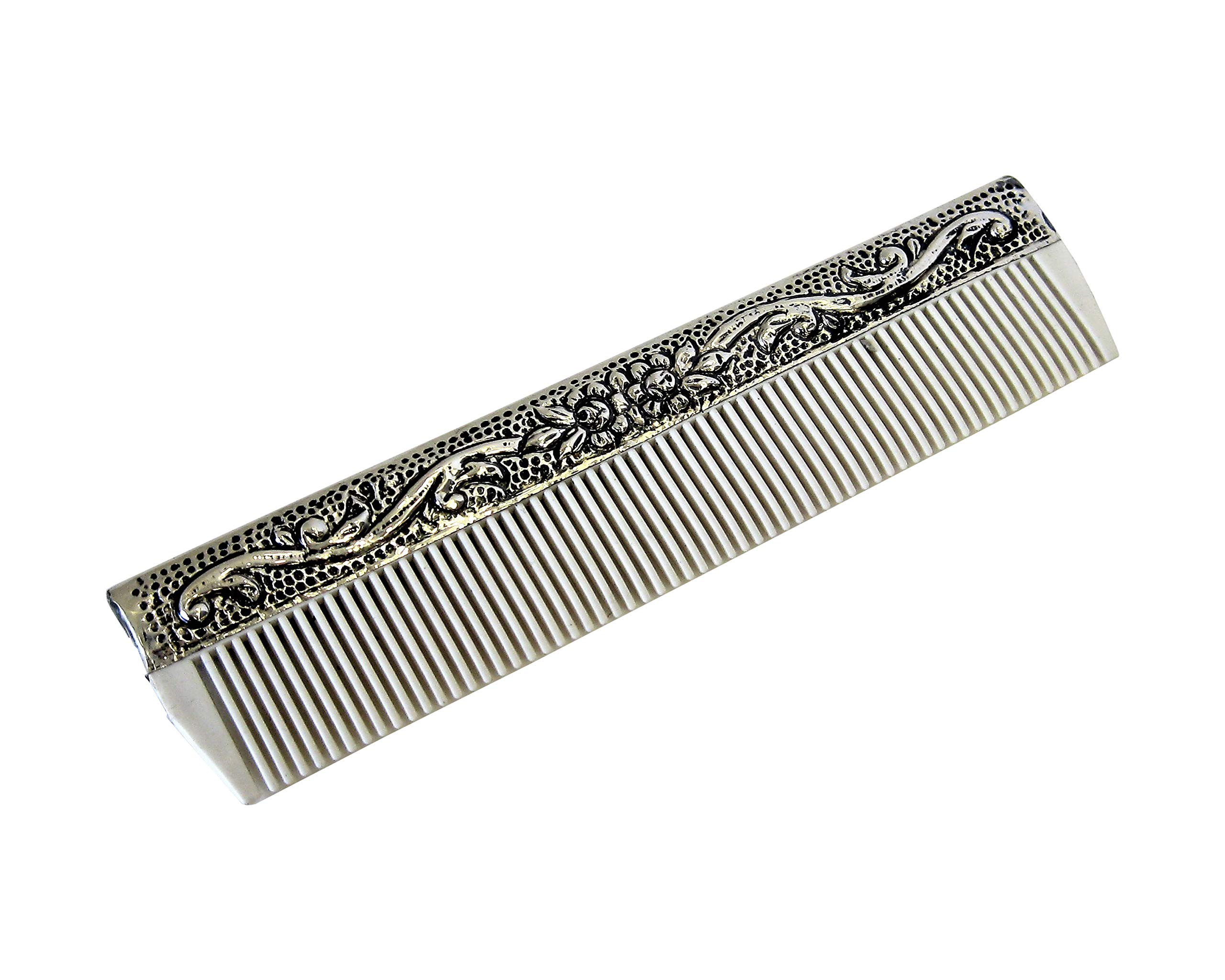 925 Sterling Silver Boy's Comb & Brush Set with Blue Felt Gift Box by Gelco (Image #2)