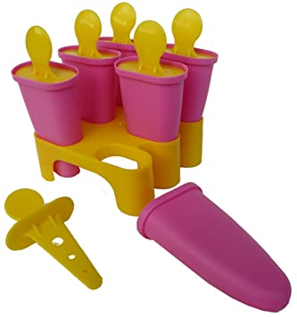 Compra Ikea - Molde para helado de hielo paleta palo para hielo paletas conjunto (amarillo / rosa) en Amazon.es