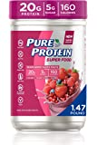 Pure Protein Vegan Plant Based Hemp and Pea Protein Powder, Gluten Free, Mixed Berry Super Fruits, With Vitamin D…