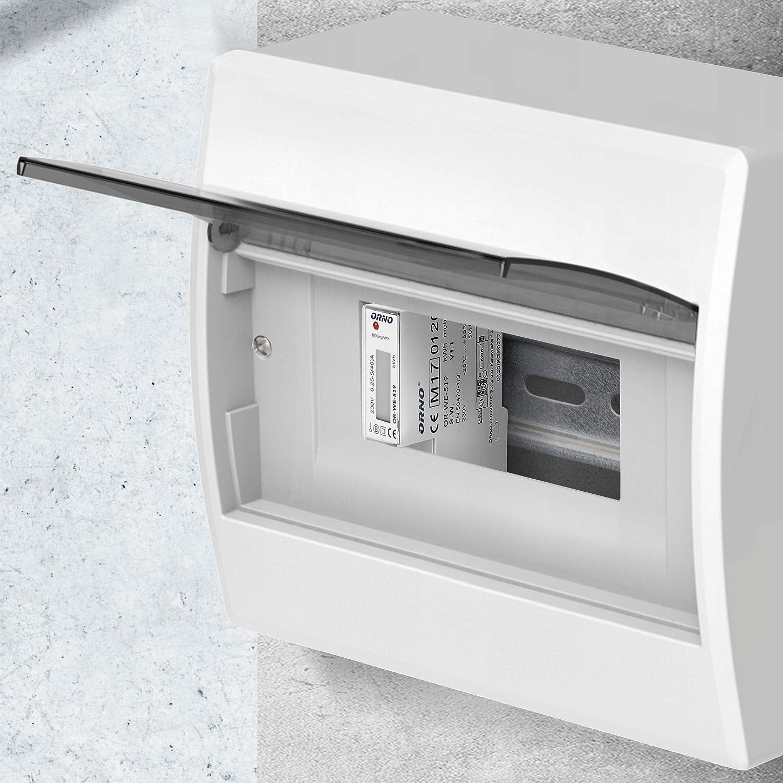 Orno WE-521 LCD Contatore energia elettrica 1 Fase Display Consumo energetico con certificato MID e uscita ad impulsi retroilluminato