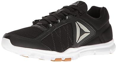 Reebok Men's Yourflex Train 9.0 MT Cross-Trainer Shoe, Black//White/