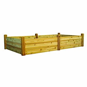 Gronomics RGBT 48-95 48-Inch by 95-Inch by 19-Inch Raised Garden Bed, Unfinished