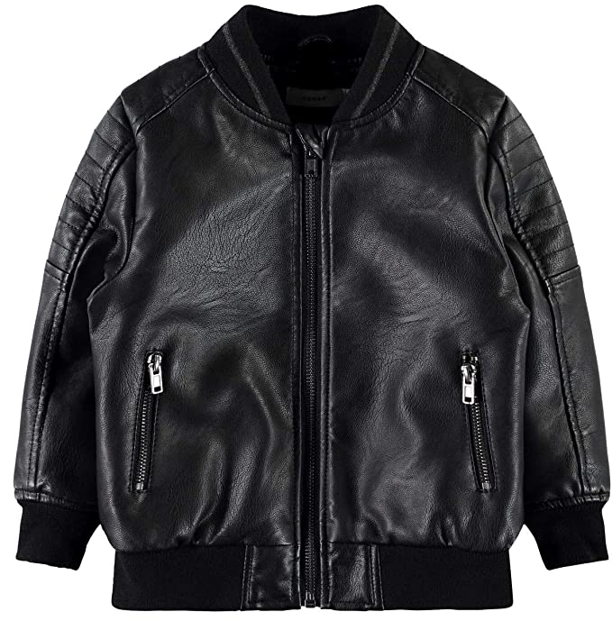 NAME IT Chaqueta Biker NIÑO Main - 110, Negro: Amazon.es ...