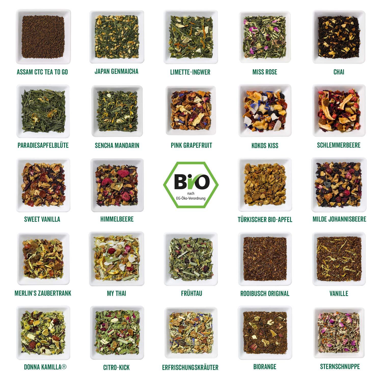 Inhalt Corasol Premium Bio-Tee-Adventskalender 2020