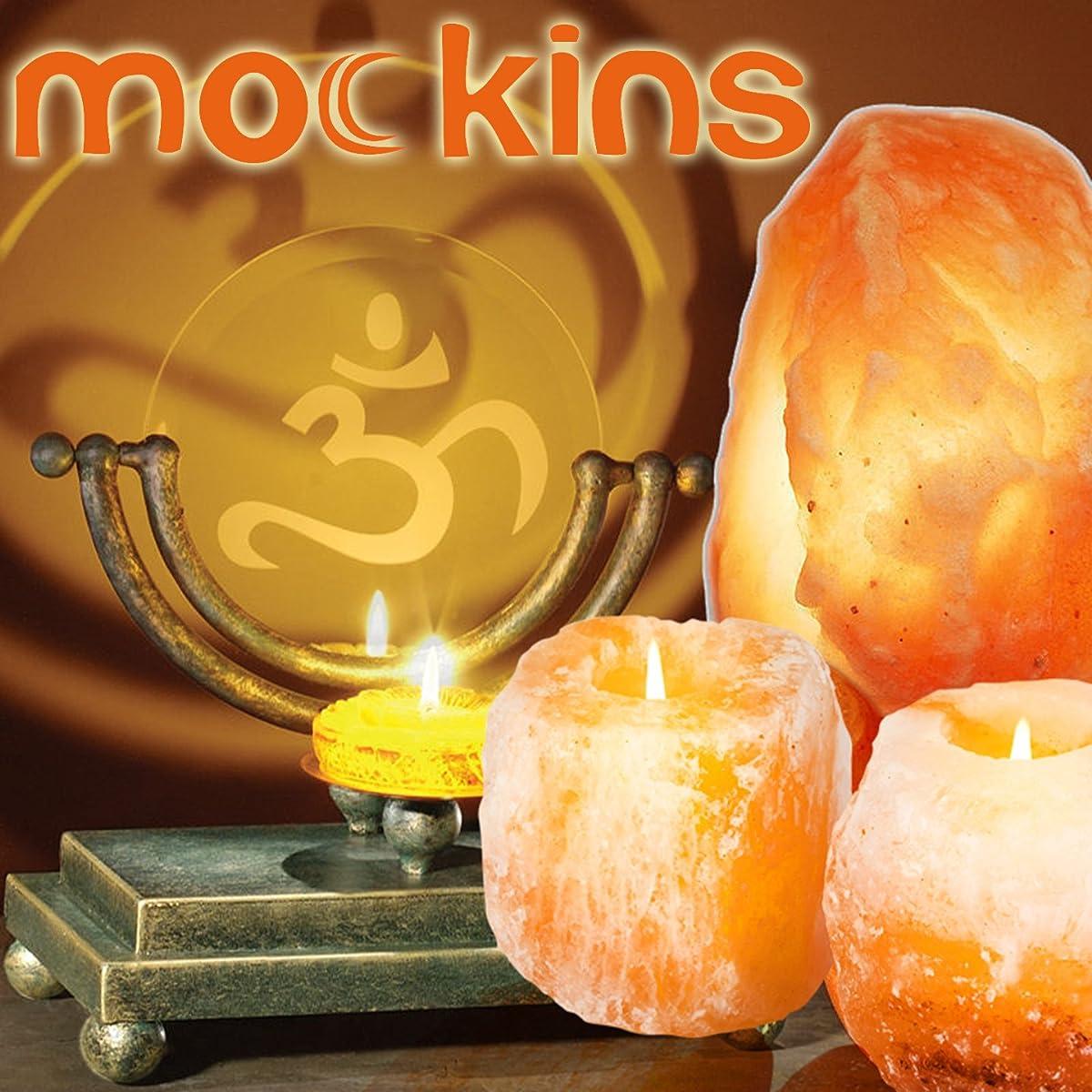 Mockins 6 Pack Natural Himalayan Salt 2.5-lbs Tea Light Holder …