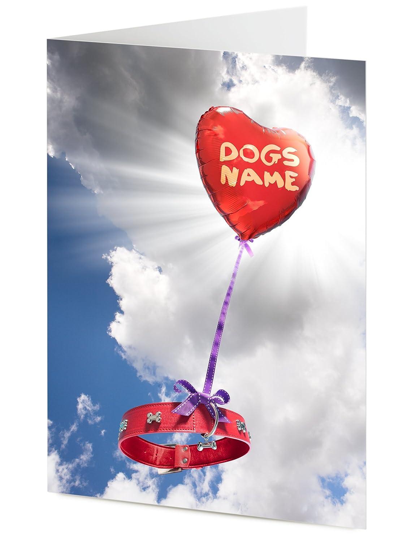 Handmade Personalised Sympathy PET BEREAVEMENT CARD  Loss of a Dog Condolences