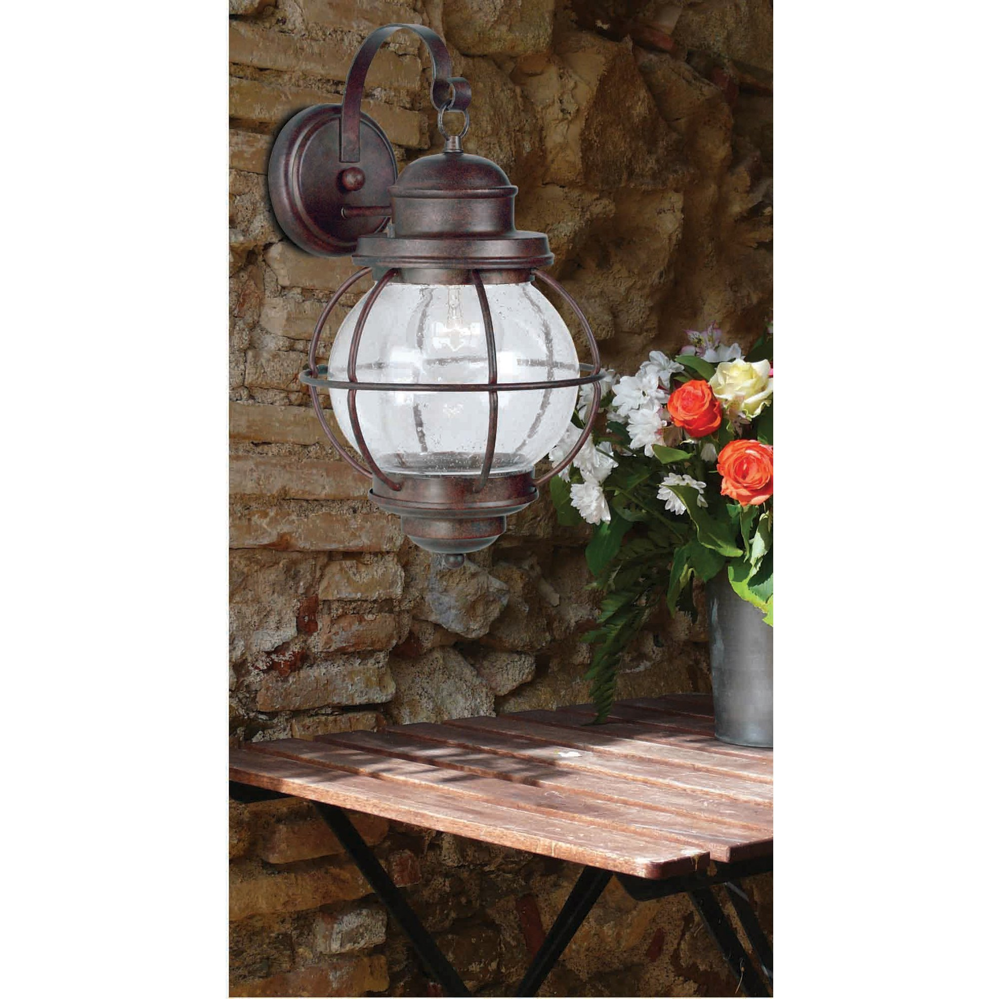 Kenroy Home 90963GC Hatteras Large Wall Lantern, Blackened Gilded Copper Finish by Kenroy Home