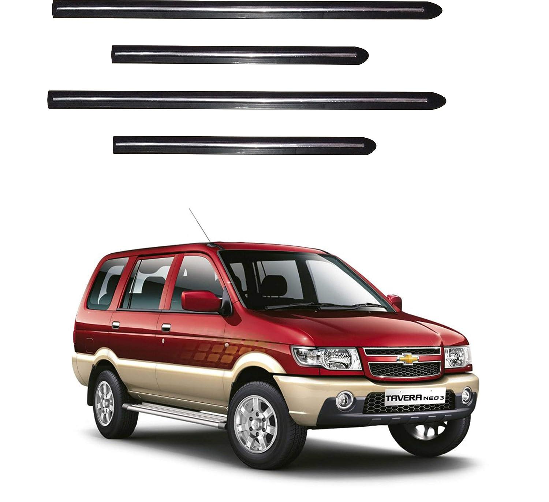 Trigcars Chevrolet Tavera Car Side Beading With Chrome Line Set Of
