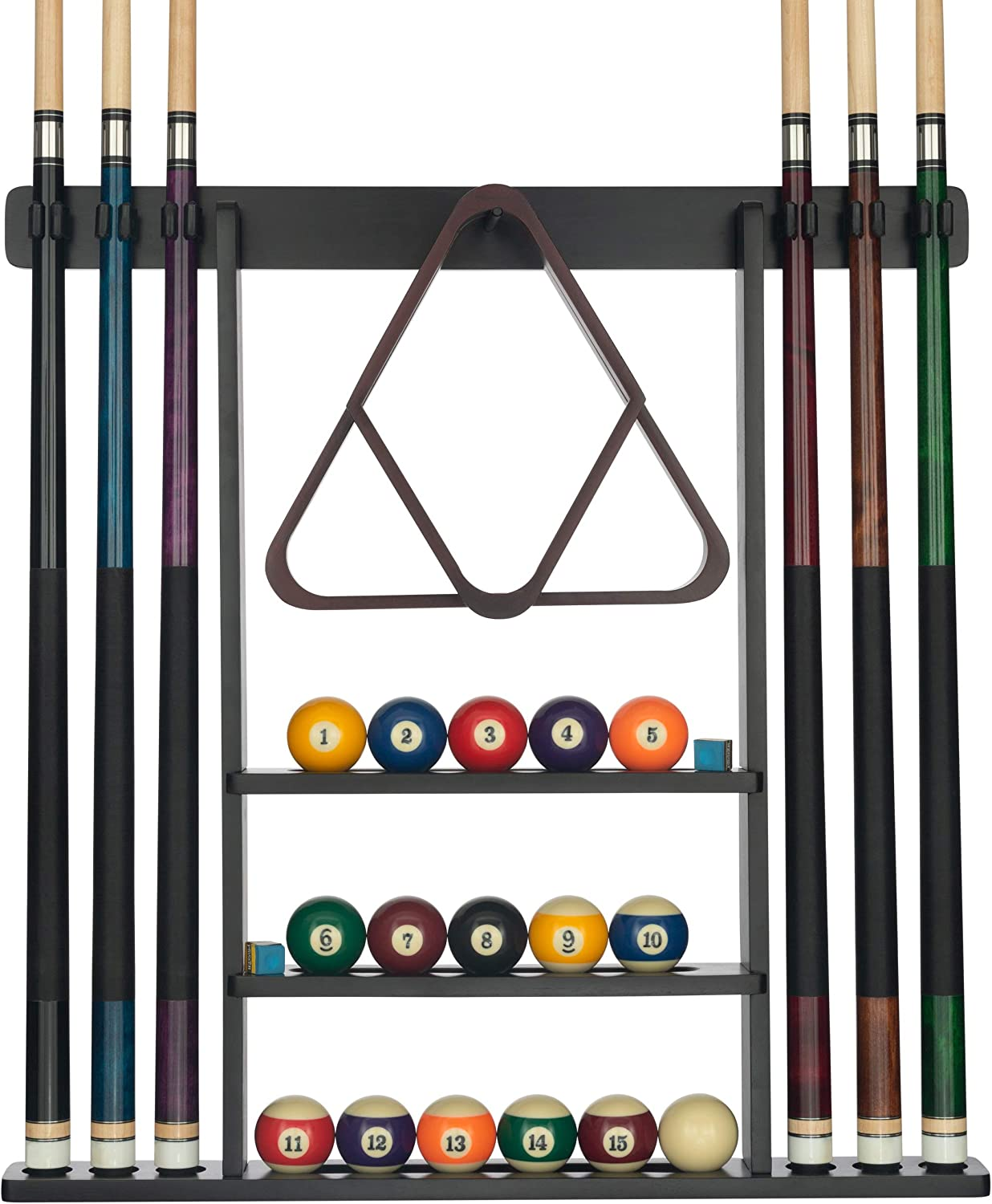 Billiard Stick Holder Wall Mount Cues Hanger Rack Stand Clips  Pool Accessories