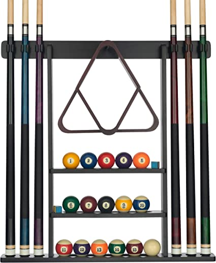 Roman Style 6-Place Wall Rack//Holder Pool//Billiard Cue Stick Wall Cue Holder
