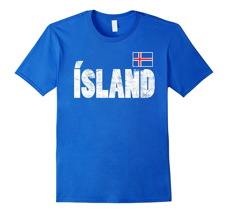 ICELAND Flag Soccer T-shirt Icelandic Futbol Football Jersey-BN