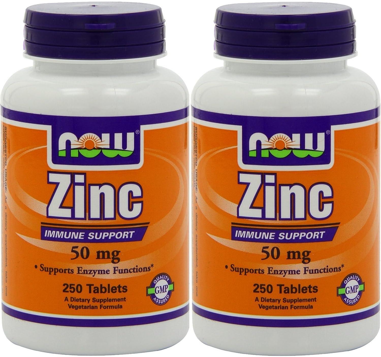 Amazon Com Now Foods Zinc Gluconate 50mg Tablets 500 Count Beauty