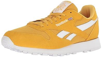 b9ec2f00d3 Reebok Men's Classic Leather Walking Shoe, Estl-Fierce Gold/White, 15 M US