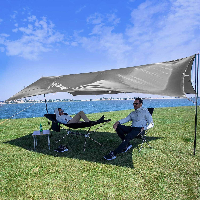 or Picnics Portable Waterproof KingCamp Camping Tarp UPF50 Lightweight Tent Tarp Hammock Shade for Camping Trips Fishing
