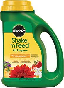Miracle-Gro Shake 'n Feed Continuous Release All Purpose Plant Food, 4.5-Pound