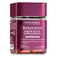 Keranique KeraViatin Hair & Scalp Health Supplement, Clinical Strength, Biotin,...