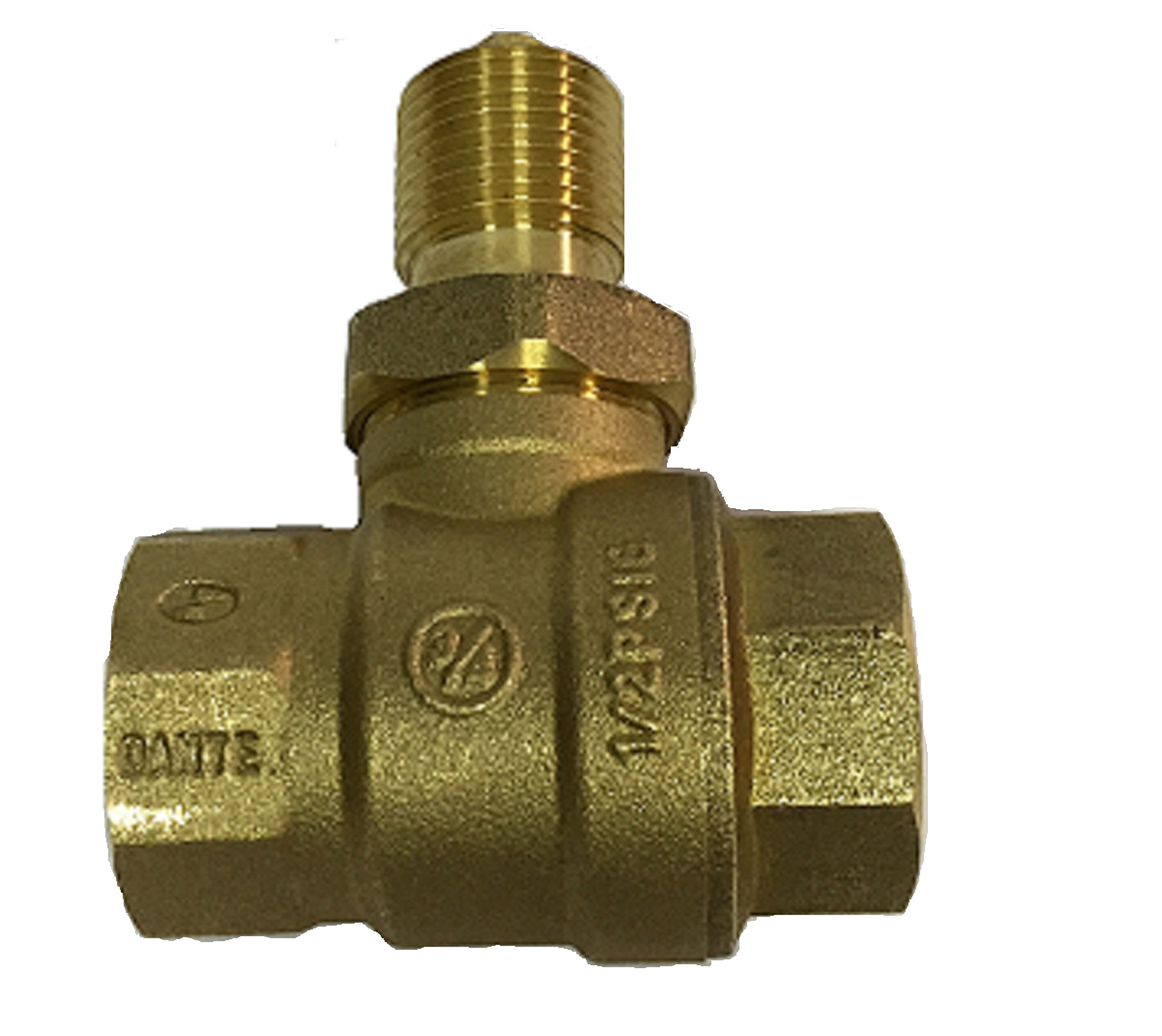 Dante Products Straight Quarter Turn Ball Valve, 3/4'', Brass by Dante