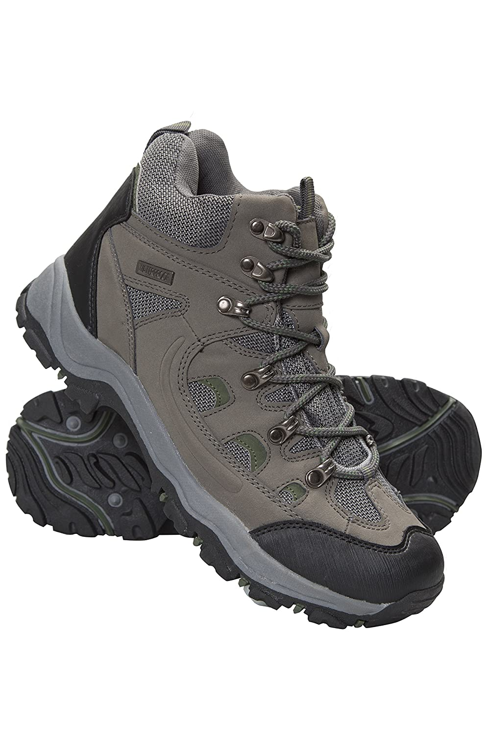 f5e1aa6fbea Mountain Warehouse Adventurer Mens Boots - Waterproof Rain Boots, Synthetic  & Textile Walking Shoes, Added Grip Mens All Season Shoes - Footwear for ...