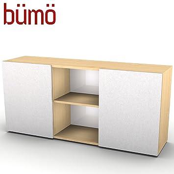 Bümö® Büro Sideboard mit Schwebetüren | Büroschrank mit Stauraum für ...