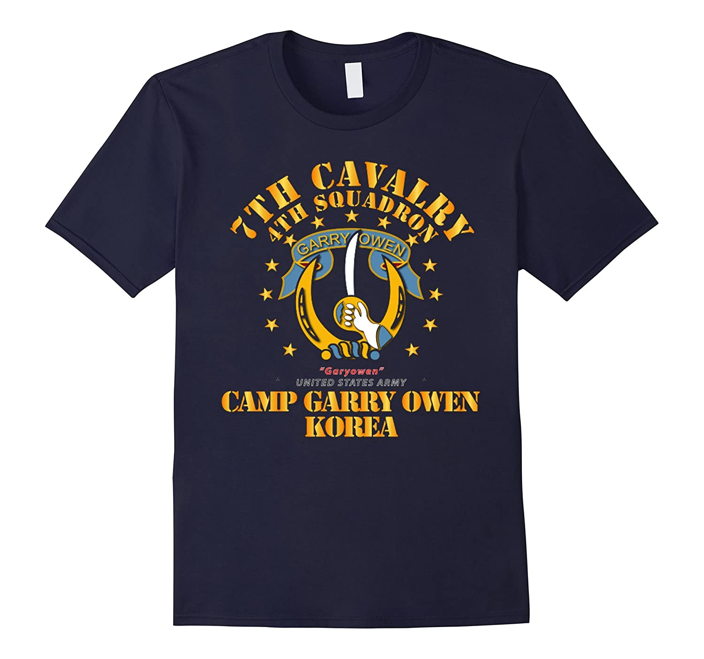 4th Squadron 7th Cavalry - Camp Gary Owen Korea Tshirt-TH