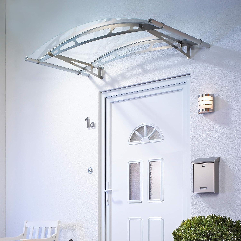 Schulte 4037563123934 - Toldo para puerta de entrada (cristal acrílico, fijación de acero inoxidable): Amazon.es: Bricolaje y herramientas