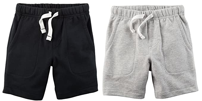 d86365d5686 Amazon.com  Carter s Set of 2 Boy s Cotton Pull On Shorts Toddler ...